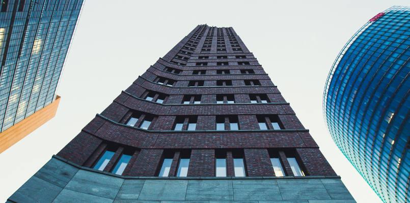 Modern minimalistic architecture high skyscrapers